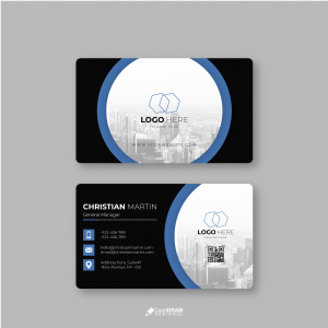 Abstract Professional  Corporate Company Business Card