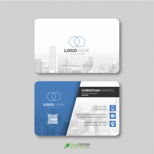 Corporate Blue White Business Card