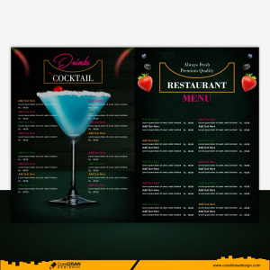 Restaurant Menu Special Offer For Business Lunch Design Elements Free Vector