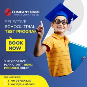 School Test Program Poster Free Download From Coreldrawdesign