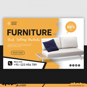 Furniture Banner Template Style Free Vector Design
