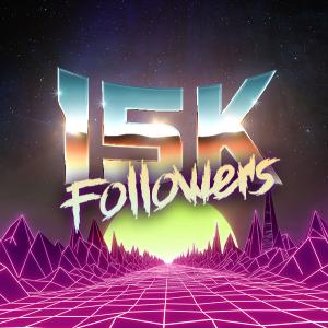 15k Followers, 80s Retro Style Text Effect, Free Psd
