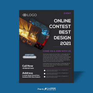 Party Event Download Free Poster CDR From Coreldrawdesign