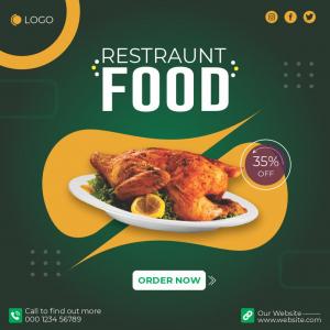 Restaurant Food Poster Banner Download From Coreldrawdesign