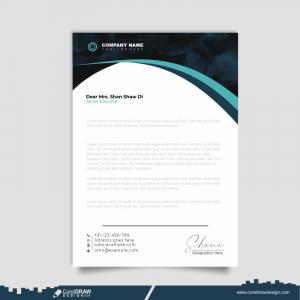 Professional Creative Letterhead Template Design Free Vector
