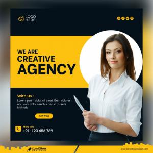 Creative Marketing Corporate And Social Media Post Template Premium Vector