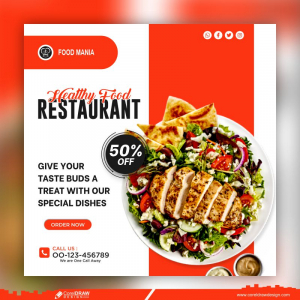 Healthy Lunch Banner Template Free Premium Vector