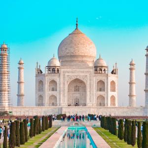 Beautiful Mesmerizing Taj Mahal Stock Image Royalty Free
