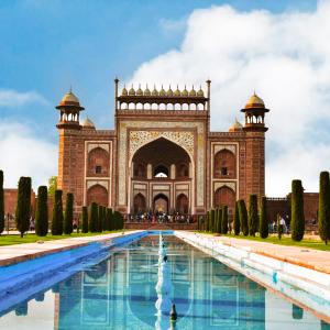 Travel Tourism 4K Stock Image of The Great Gate of Tajmahal Darwaza-i-Rauza