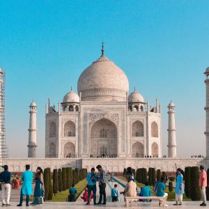 Beautiful Taj Mahal Symbol of love Royalty Free Stock Image