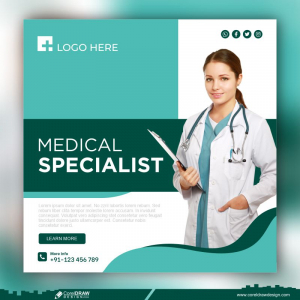 Healthcare Medical Banner Promotion Template Premium Vector