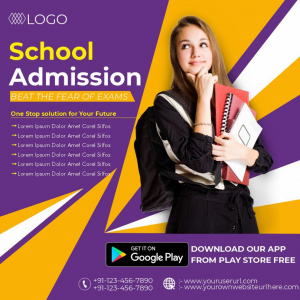 School Admission Colourful Poster Download From Coreldrawdesign