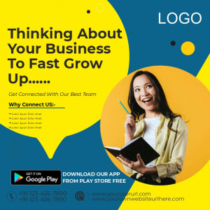 Thinking About Your Business Free Poster Design From Coreldrawdesign