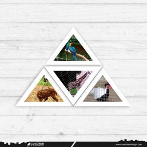 Photo Frame Set Mockup Design Free Vector