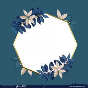 Floral Blank Frame Free Vector Design