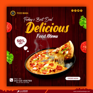 Food Social Media Promotion And Banner Design Template Free