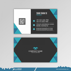Clean Modern Business Card Template Free Vector