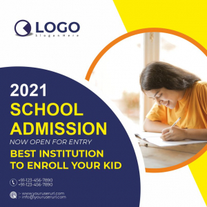 School Admission Now Open Download Free CDR & EPS File From Coreldrawdesign