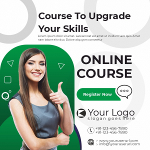 Course To Upgrade Your Skill Download Free Poster Banner From Coreldrawdesign