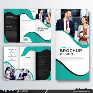 Modern Trifold Business Brochure Template Premium Vector