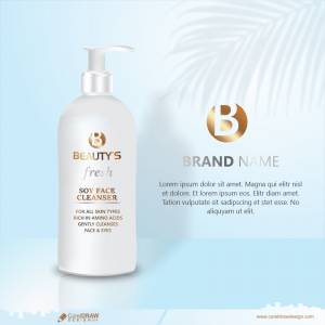 Beauty Product Ad Design White Cosmetic Container With Collagen Solution Advertising Background Vector