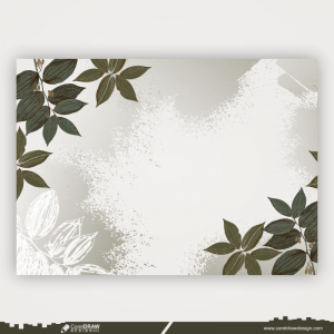 Watercolor Background With Hand Drawn Elements Free Vector