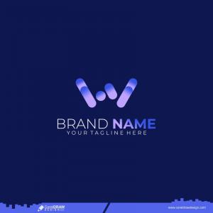 Unique Modern Geometric Creative Elegant Letter W Logo Template Premium Vector