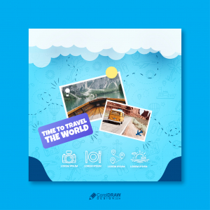 Abstract Travel Social media Banner Template