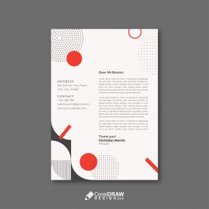 Abstract Geometric Corporate Letterhead Template