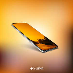 Abstract Beautiful Android Mobile Showcase advertisement Mockup
