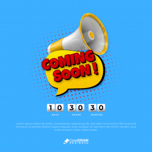Abstract Coming Soon Creative Poster Template