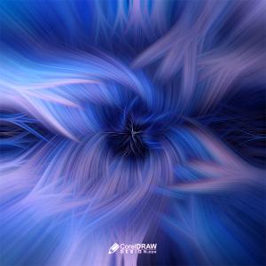 Blue Fiber Light Twisted Fibrous Background