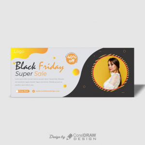 Black Friday sale flat banner free download CDR File From Coreldrawdesign