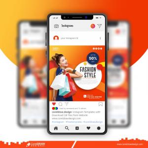 Fashion Style Template Mobile Phone Screen Mockup Free Premium Vector
