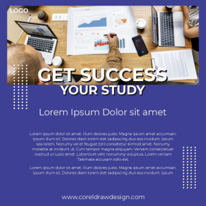 Get Success YOur Study Download From Coreldrawdesign Simple Poster