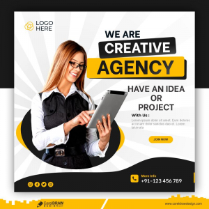 Digital Marketing Agency And Corporate Social Media Post Template Free Vector