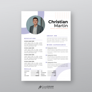 Corporate Professional Elegant Resume CV Template