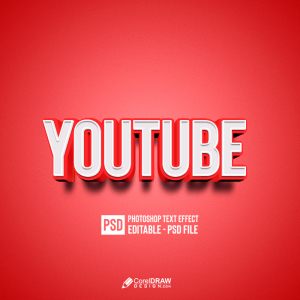 Abstract Red Youtube Text Effect