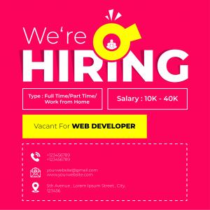 Abstract Hiring Vacancy Post Social Media Poster Template