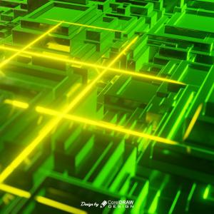 Technology Neon Background 4K 3D Rendered Free Download From Coreldrawdesign
