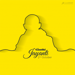 Clean Minimal Elegant Happy Gandhi Jayanti Vector