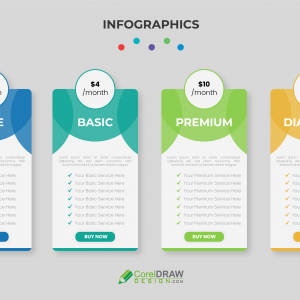 Abstract Premium Trendy Pricing Table Vector Template