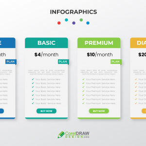 Abstract Trendy Pricing Table Vector Template