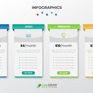Abstract Infographic Pricing Table Vector Template