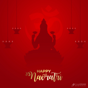 Beautiful Ethnic Background Navratri Laxmi Puja Vector