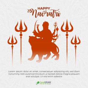 Happy Navratri Durga Puja Vector Wishes