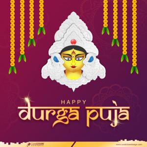 Traditional Durga Puja Navratri Festival Beautiful Background Premium Vector