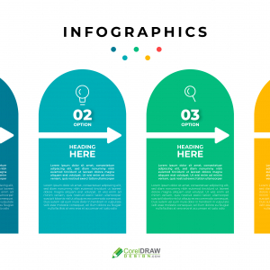 Corporate Colorful Realistic Infographics Template