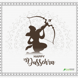 Simple Elegant Dussehra Social Media Vector