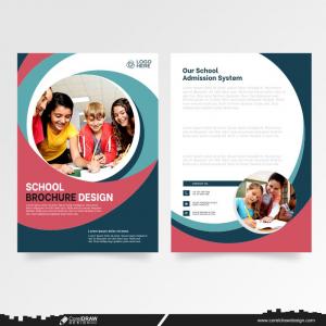 School Education Brochure Template Premium Vector